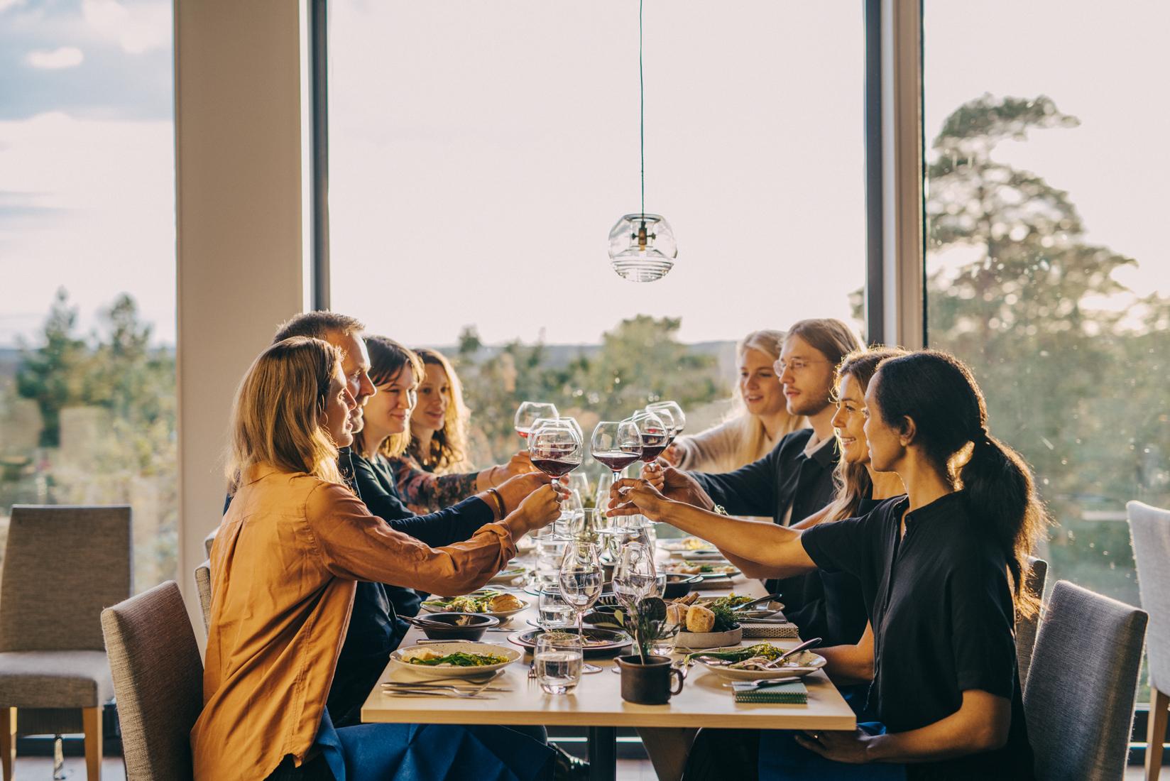 Middag med kollegorna i Restaurang Skog