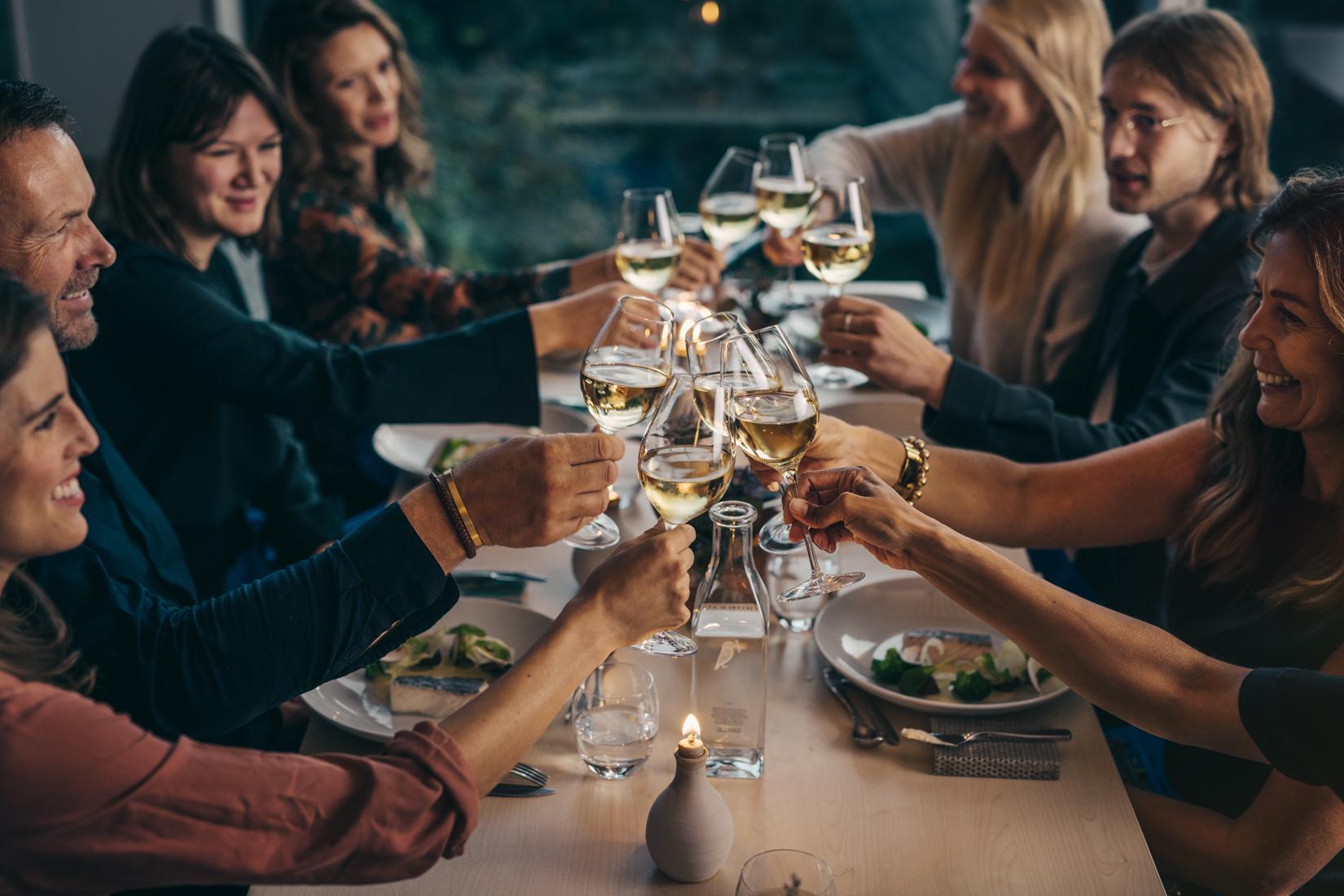 Middag med kollegorna