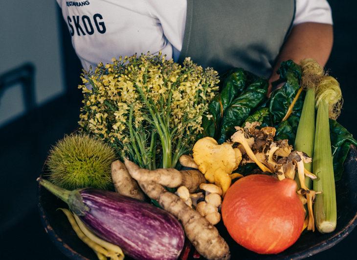 hållbar mat i restaurang skog